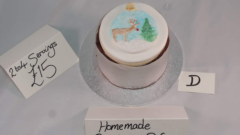 Christmas Cake 2/4 Servings