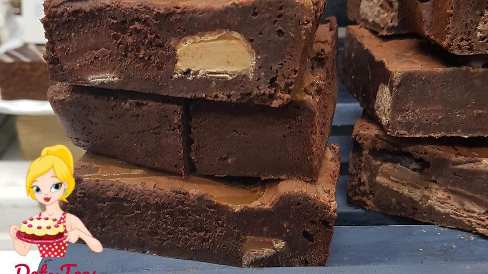 Chocolate Caramel Brownies x 6
