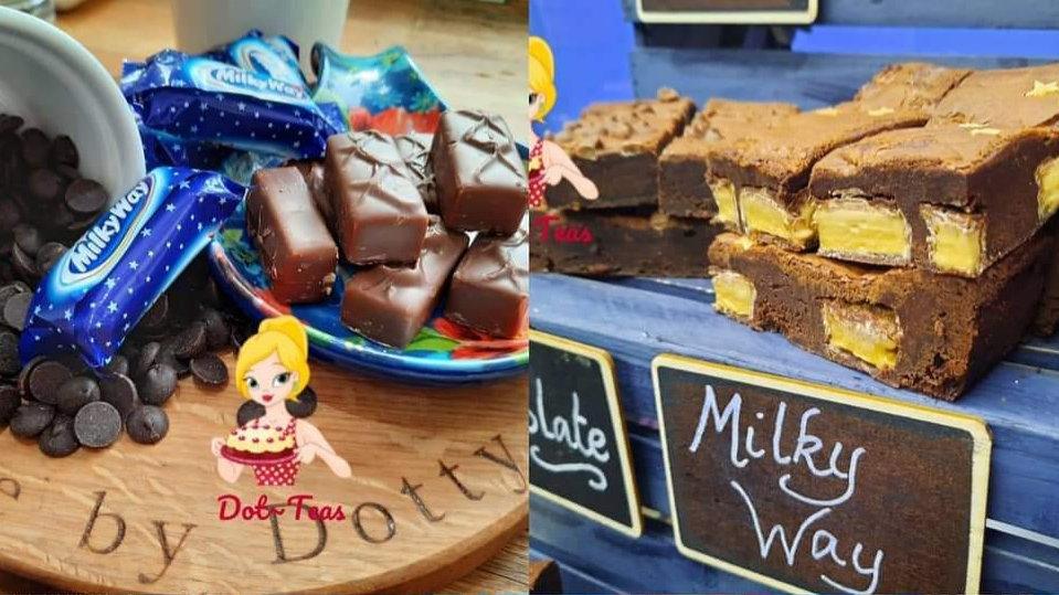 Chocolate Milky Way Brownies x 6