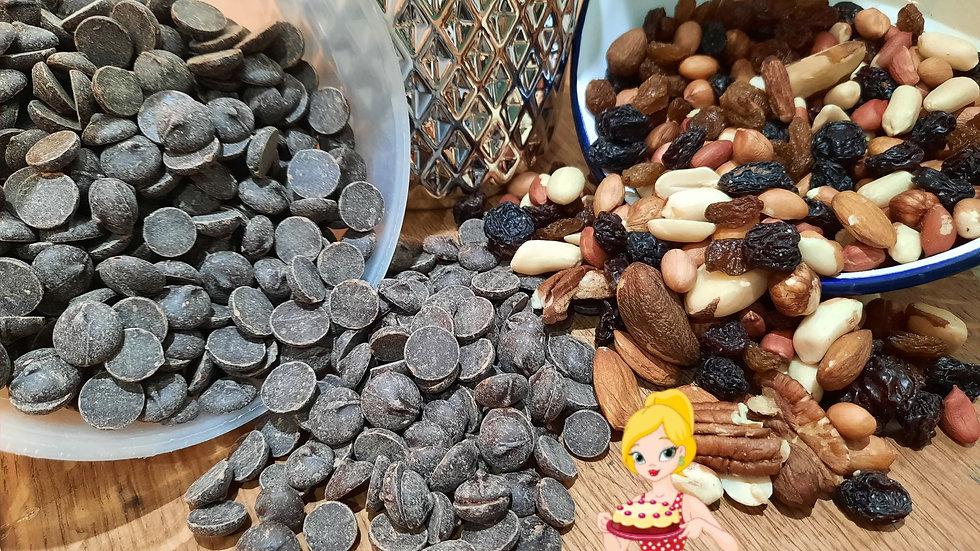 Chocolate Fruit & Nut Brownies x 6