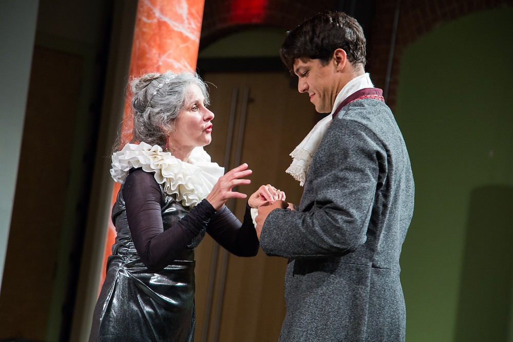 Zuckerman as Bertram with the Countess (Annie Pluto) // photo credit: Amy DeMar-DuBois of AmyMae Photography