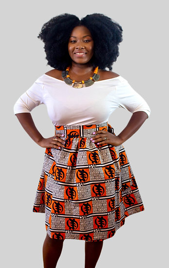THREAD Ankara Short Wrap Skirt