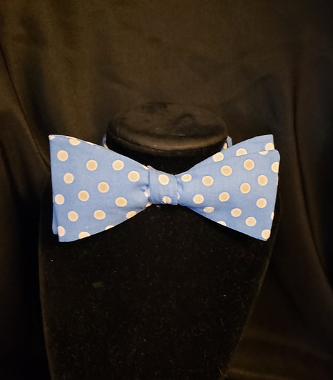 Sky Blue Polka Dot Bow Tie (Joe Collection)