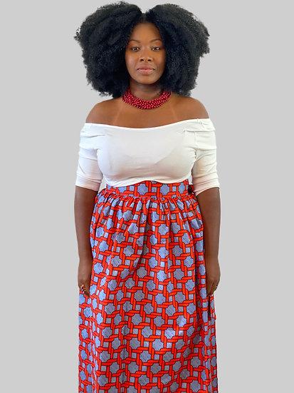 THREAD Ankara Maxi Wrap Skirt