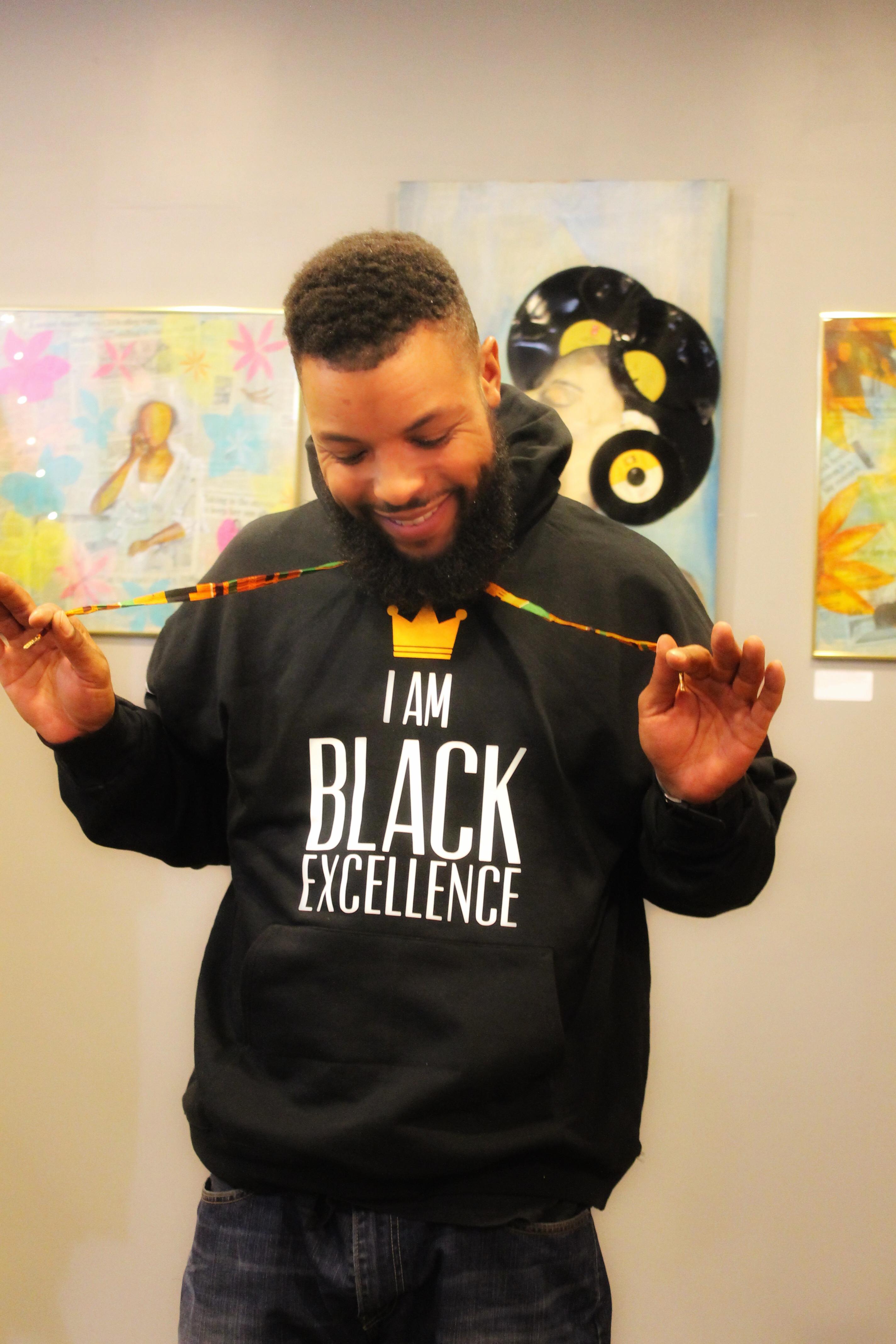 Men's Black Excellence Hoodie