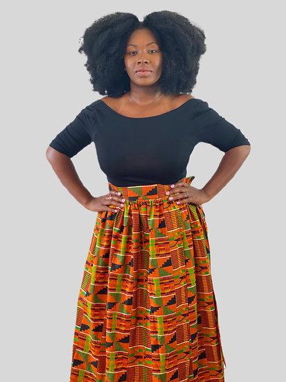 THREAD Kente Maxi Wrap Skirt