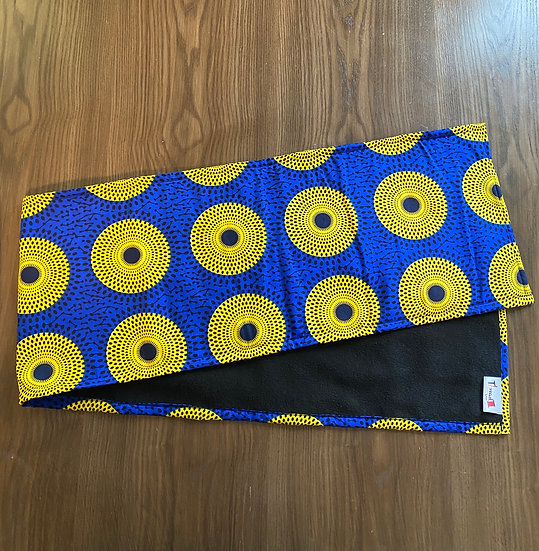 THREAD Blue Ankara Fleece-Lined Scarf