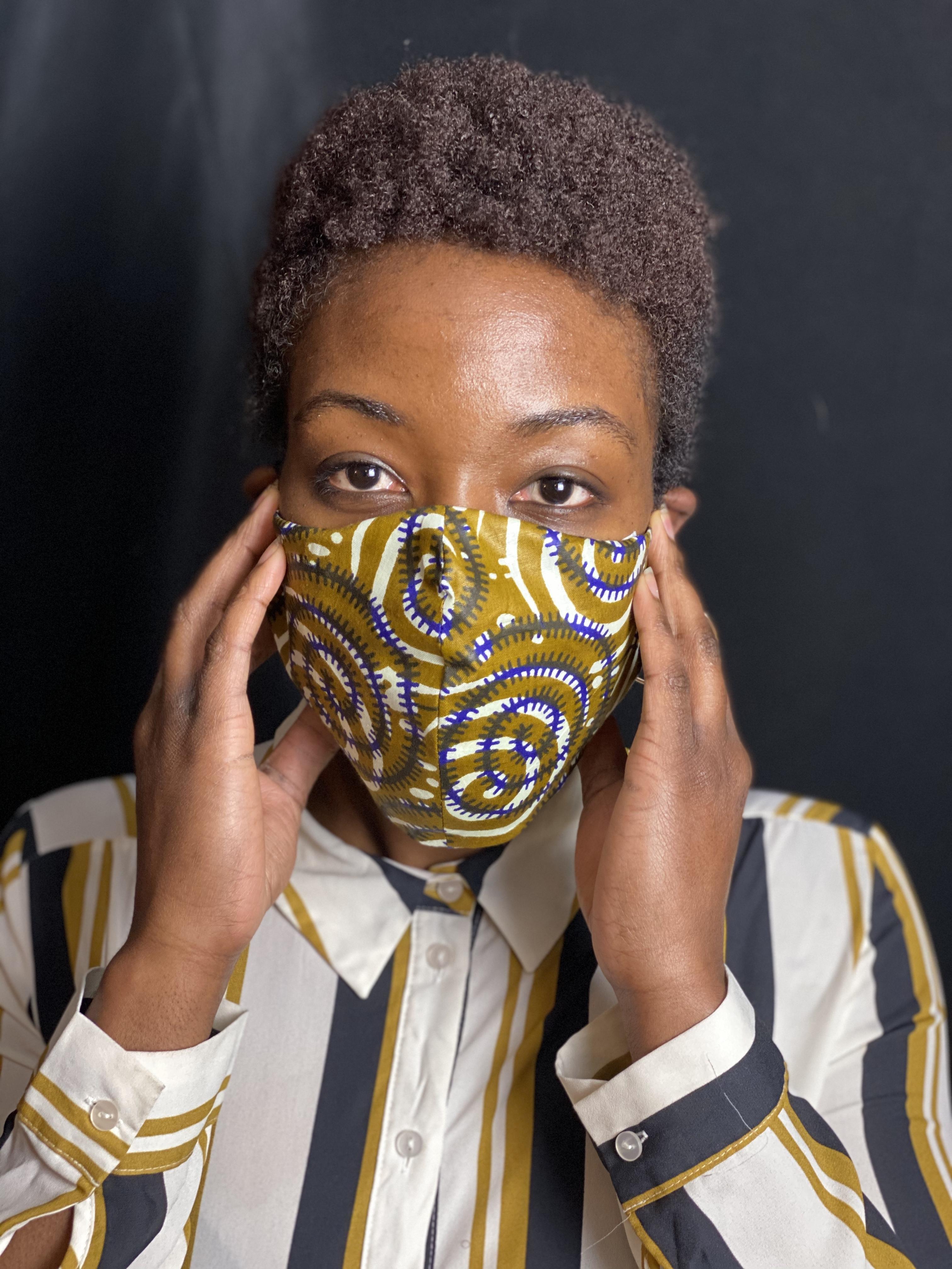 Ankara 4 face mask