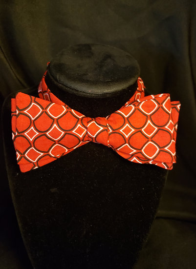 Red Geometric Bow Tie (Joe Collection)