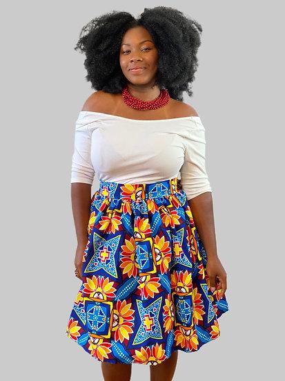 THREAD Ankara Short Wrap Skirt