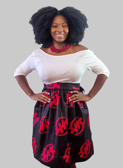THREAD African Print Short Wrap Skirt