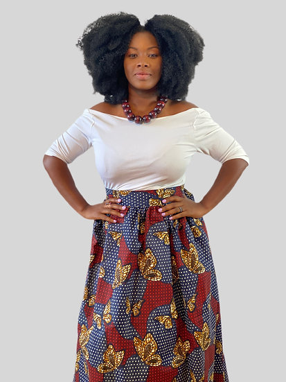 THREAD Ankara Maxi Wrap Skirt