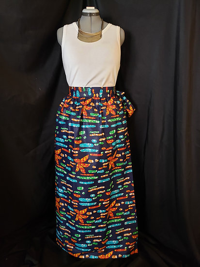 THREAD Long African Print Skirt