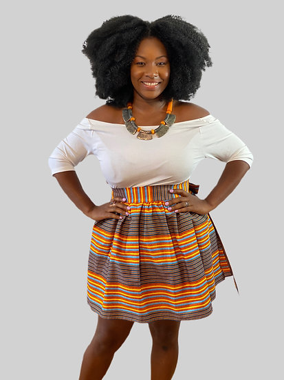 THREAD Ankara Mini Wrap Skirt