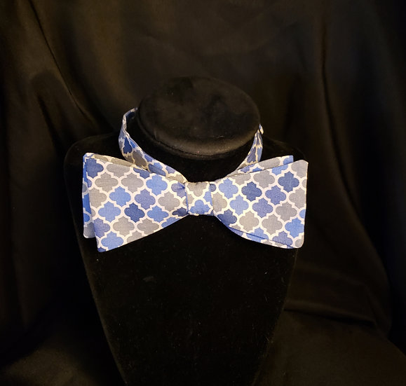Blue and Gray Classic Bow Tie (Joe Collection)