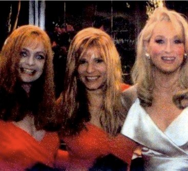 Goldie Hawn, Barbara Klein (Goldie Stunt Double) and Meryl Streep