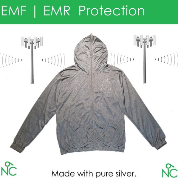 No Choice EMF Protection hoodie made with pure silver