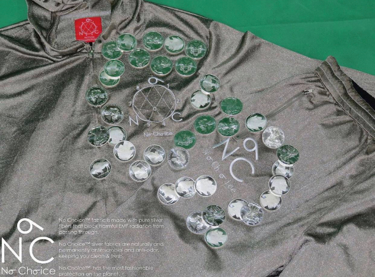 No Choice EMF Protection clothing made with pure silver. Protection from EMF.