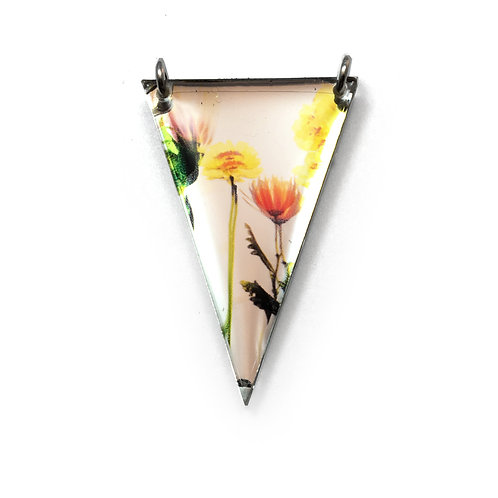 Mirror Triangle Bouquet Pendant