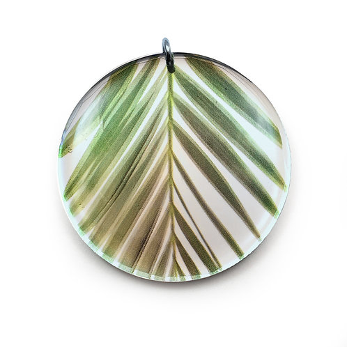 Mirror Round Palm Pendant