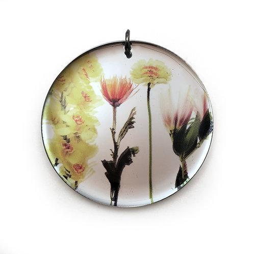 Mirror Round Bouquet Pendant