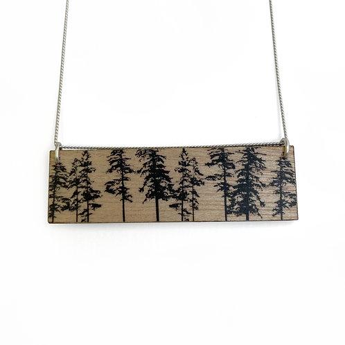Landscape Forest Wood Necklace