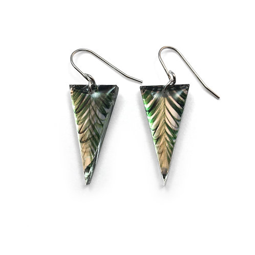 Triangle Palm Two Earrings