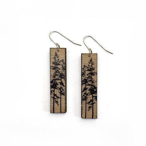 Tall Forest Wood Earrings (W)