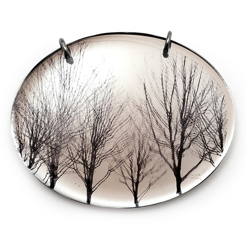 Mirror Oval Trees Pendant