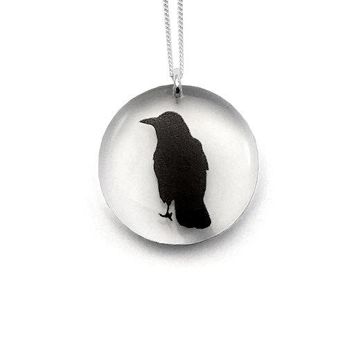 Round Crow Pendant