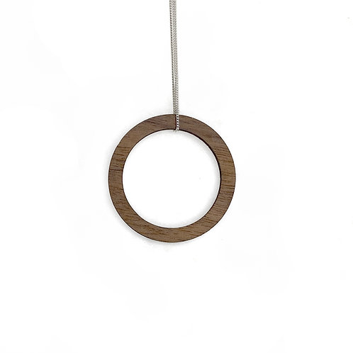 Small Wood Ring Necklace (W)
