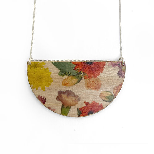 Drop Wallpaper Wood Necklace (W)