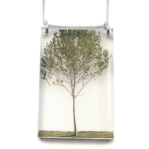 Tall Green Tree Pendant (W)