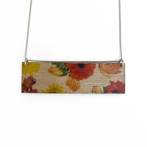Landscape Wallpaper Wood Necklace