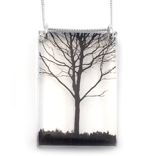 Tall City Tree Pendant