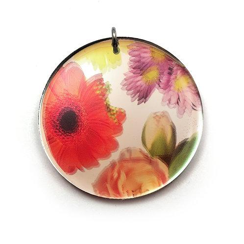 Mirror Round Wallpaper Pendant