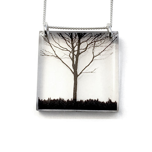Square City Tree Pendant