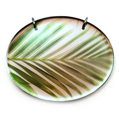 Mirror Oval Palm Pendant