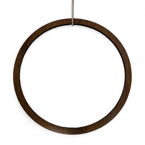 Large Wood Ring Necklace