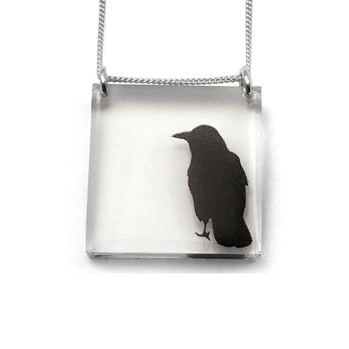 Square Crow Pendant