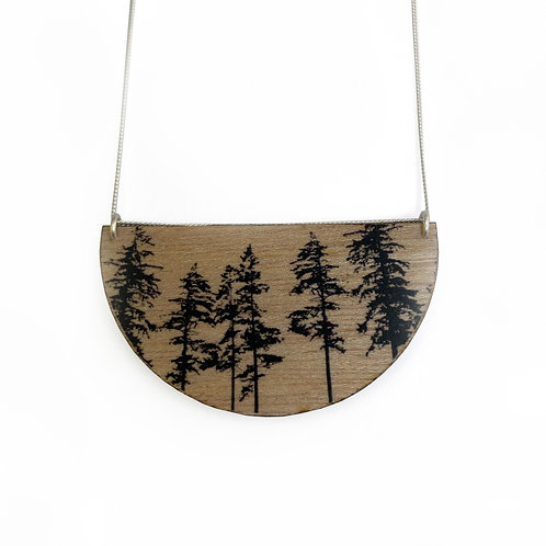 Drop Forest Wood Necklace (W)