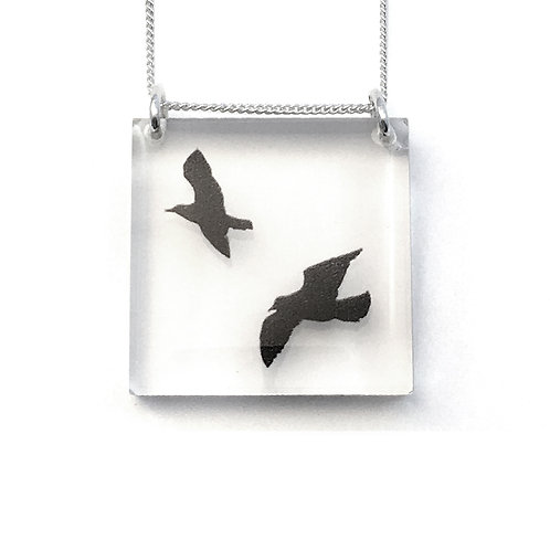 Square Birds Pendant