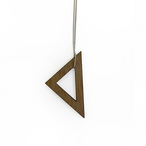 Small Wood Triangle Necklace (W)