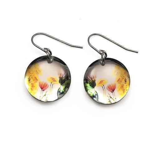 Mirror Round Bouquet Earrings