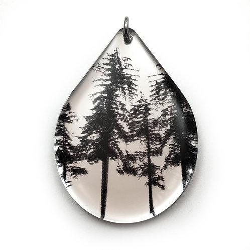 Mirror Drip Forest Pendant