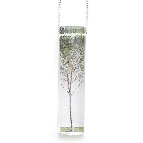 Skinny Green Tree Pendant