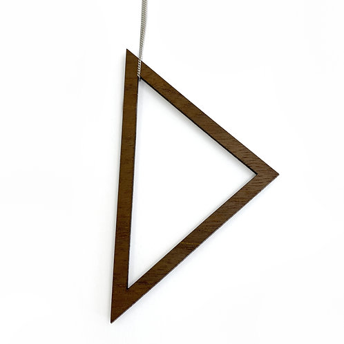 Large Wood Triangle Necklace (W)