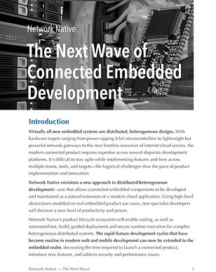 The Next Wave of Connected Embedded Development