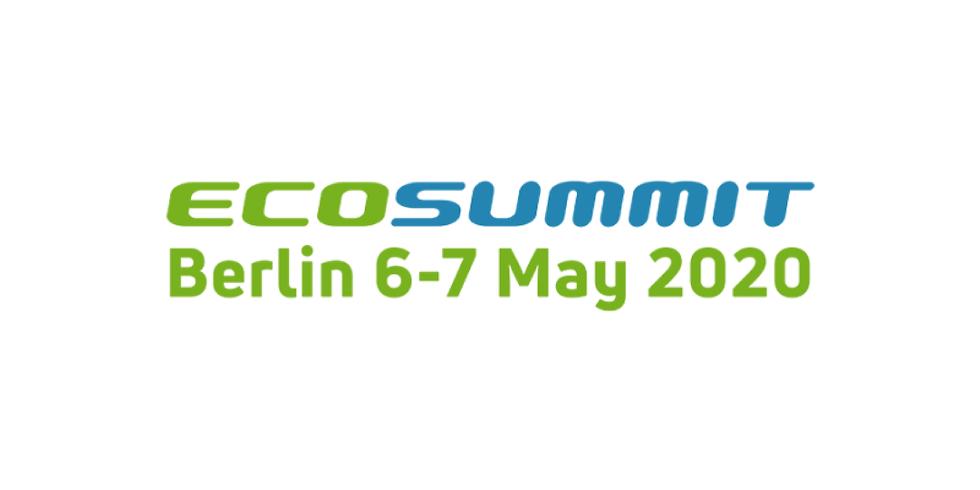 EcoSummit 2020 in Berlin (DE), 6-7 June