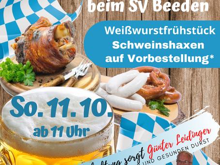 11.10. Bayer. Frühschoppen und Heimspiel gegen Niederbexbach